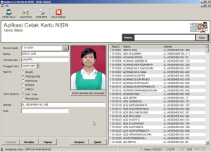 Form Entry Data Siswa