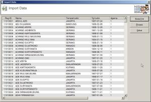 Fasilitas Import data dari Excel